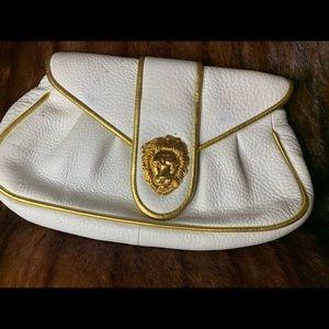 AUTHENTIC DOONEY BOURKE RARE WHITE/GOLD CLUTCH